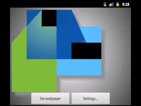 Video of Blender Live Wallpaper Demo
