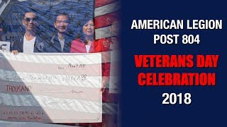 American Legion Post 804: Veterans Day Celebration 2018