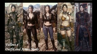 Outfit and Armor Mods - Geist Suit - Shade Girl Leather Outfits - Sarah Rage Armor - NCR Desert Raven Armor