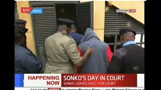 Governor Sonko arrives at Milimani Law Courts to answer to graft charges | SONKO IN COURT