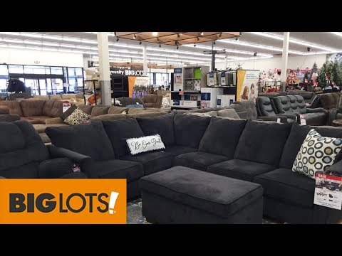 BIG LOTS FURNITURE SOFAS COUCHES ARMCHAIRS HOME DECOR - SHOP WITH ME SHOPPING STORE WALK THROUGH 4K