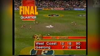 West Coast Eagles vs Geelong AFL Grand Final 1994 (second half 1/2)