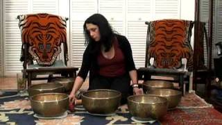 Singing Bowl Meditation Crown Chakra Set