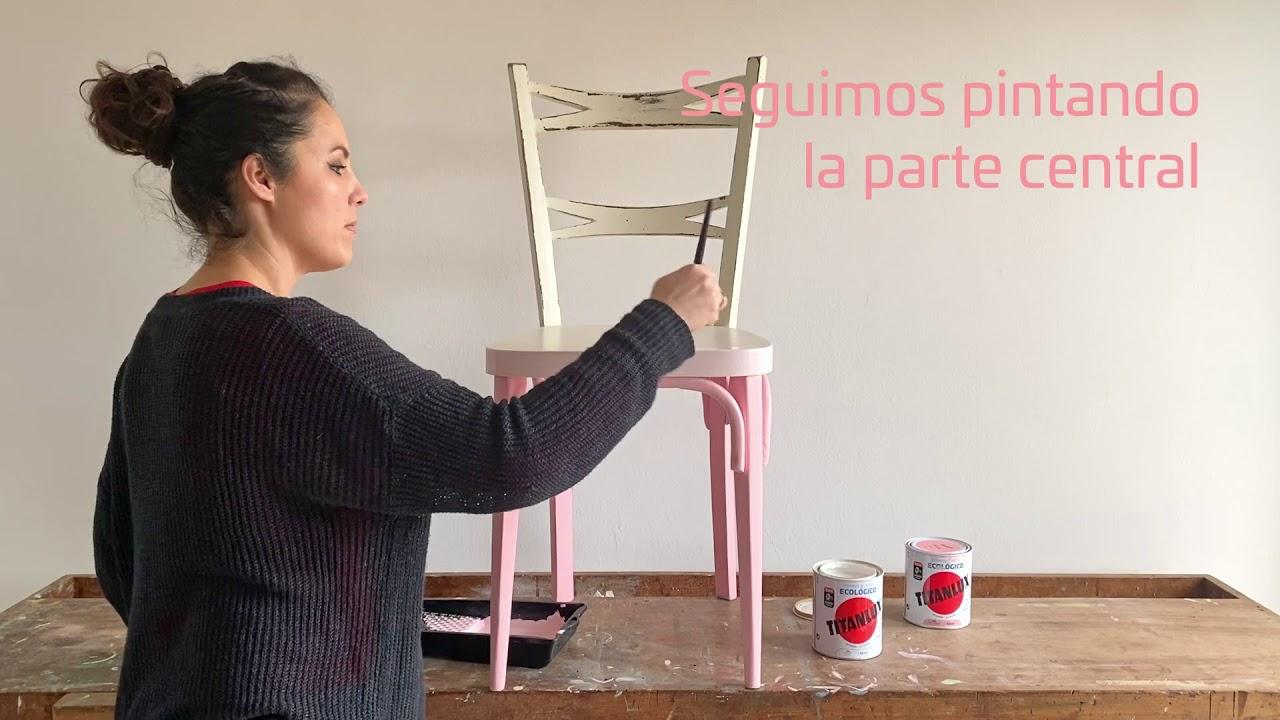 DIY: Cómo pintar una silla con efecto degradado
