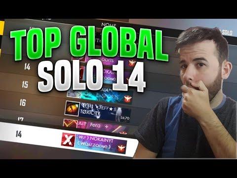 AO VIVO FREE FIRE TOP GLOBAL SOLO 12!