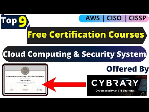 9 Free Certification Courses of Cybrary   Free Certificates ... - YouTube
