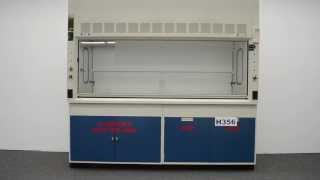 8′ Fisher Hamilton Safeaire Fume Hood w/ Flammable Acid Cabinets