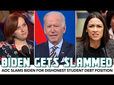 AOC & Others Slam Biden Over Dishonest Town Hall Answer