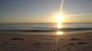 Sunrise on the Beach , Ocean Waves Sound