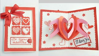 Diy Valentines Cardmaking Love Popup Card For Valentines Day