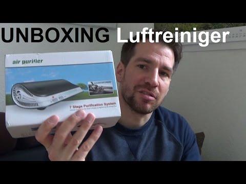 Unboxing MICTUNING 7 in 1 Ionizer HEPA Luftreiniger Auto Nikotin und Haushalt