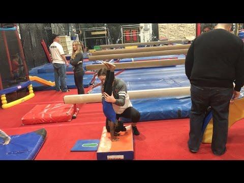 Elle's First Day At Toddler Gymnastics
