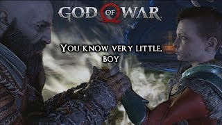 God Of War Ps4 Kratos Quotes To Atreus   From Boi To A Warrior
