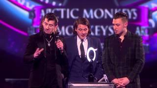 Arctic Monkeys Win MasterCard Album Of The Year  | BRITs Acceptance Speeches