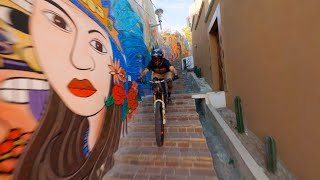 Epic MTB trails and alleys in Guanajuato Mexico l FPV Dron