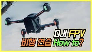 [FPV초보 필감] 시네마틱 한팩 그리고 DJI FPV 비행 연습은 어떻게 시작할까?