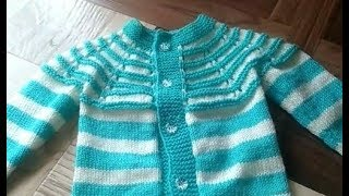 Baby Sweater Knitting Measurement