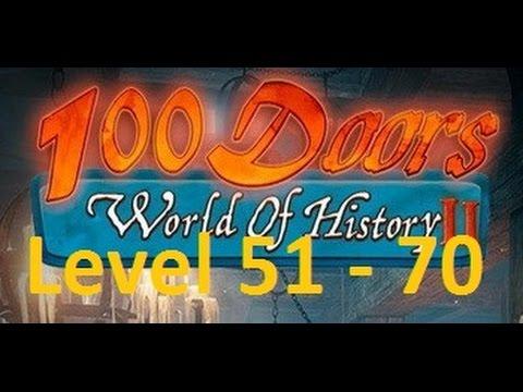 100 Doors World of History 2 - 100 дверей  мир истории 2 - Level 51 - 70  Walkthrough прохождение