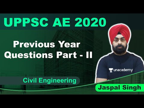 UPPSC AE 2020 | Previous Year Questions Part - II | Civil | Jaspal Singh