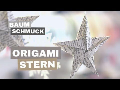 ORIGAMI - Stern aus Papier für Weihnachtsbaum