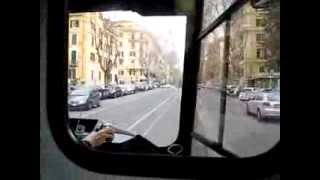 preview picture of video 'Tram ride @ Rome - March 2013'