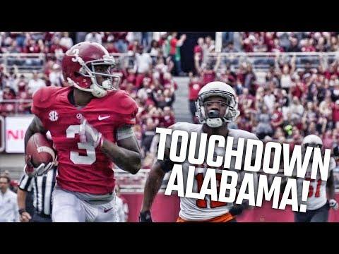 Alabama's Calvin Ridley hauls in a 66-yard touchdown pass from Jalen Hurts