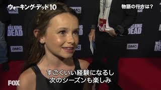 「ウォーキング・デッド」シーズン10 ワールドプレミア レッドカーペットインタビュー