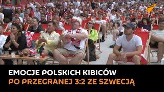 Polscy kibice przeżywają rollercoaster emocji po przegranej 3:2 ze Szwecją
