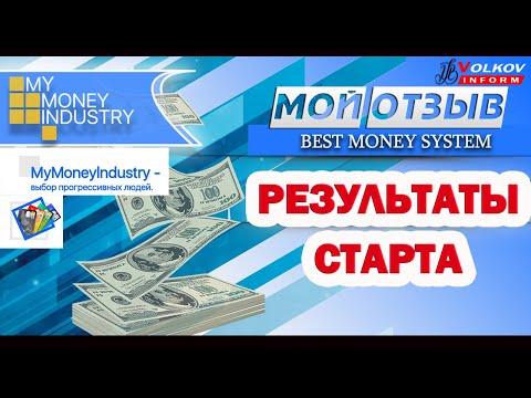 MyMoneyIndustry стартовал! Мой отзыв и мои результаты  Вывод денег Проект платит!