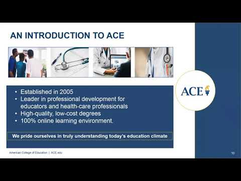 ACE - Bachelor of Science in Healthcare Administration - YouTube