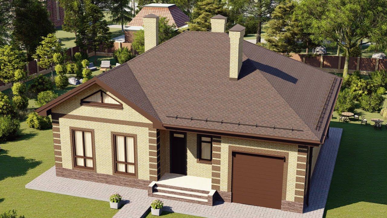 Проект дома из блоков с 3D визуализацией