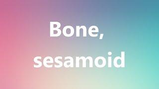Bone, sesamoid - Medical Meaning
