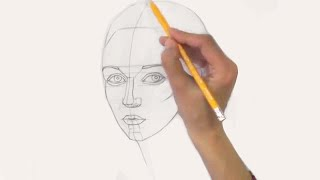 Смотреть онлайн Как поэтапно рисовать лицо