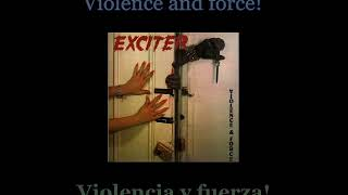 Exciter - Violence & Force - Lyrics / Subtitulos en español (Nwobhm) Traducida
