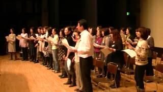 秦万里子コーラス隊練習 2011年2月17日