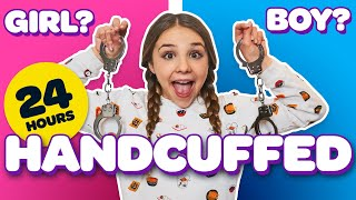 24 HOURS HANDCUFFED to a BOY & GIRL Challenge **LOST KEYS**🔑| Piper Rockelle