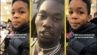 Offset Migos Pulls Up At His Sons School To Eat Lunch!
