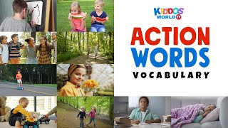 Action Words Flashcards - Action Words for Kids -  Action Verbs - English Vocabulary