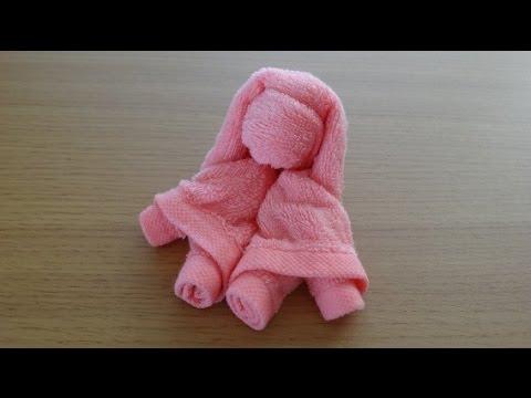 How to Make a Towel Girl おしぼり少女の作り方