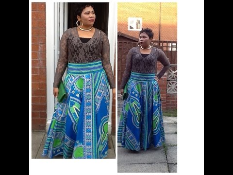 How to make a circular Dashiki skirt