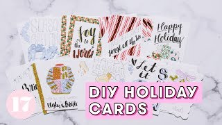 How to Make DIY Holiday Cards | Plan With Me