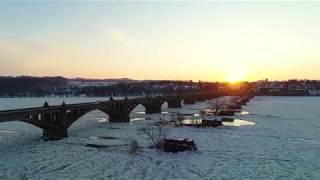 Frozen Susquehanna River Video