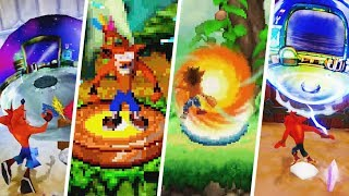 Evolution Of Beginning And End Of Levels - Crash Bandicoot Games