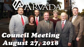 Preview image of Arvada City Council Meeting - August 27, 2018
