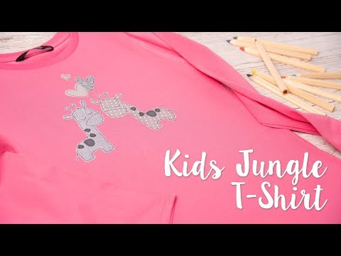Oh Sew Cute Kids Jungle T-Shirt - Sizzix