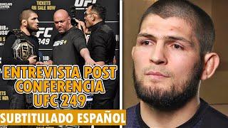 Khabib HABLA de las MENTIRAS de Tony Ferguson, KHABIB Entrevista SUBTITULADA en ESPAÑOL - UFC 249