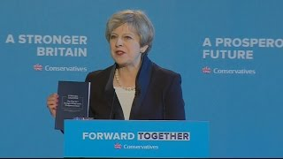 Theresa May launches Conservative manifesto