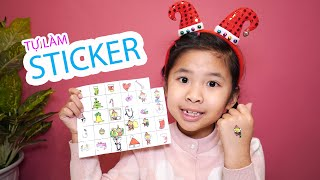 Bé Bún Tự Làm Sticker Giáng Sinh | DIY Christmas Stickers
