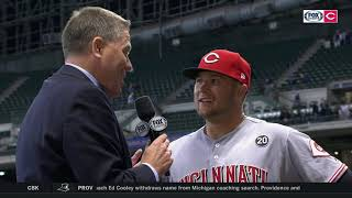 Nick Senzel shares self-evaluation after first couple weeks in MLB | REDS-BREWERS POSTGAME