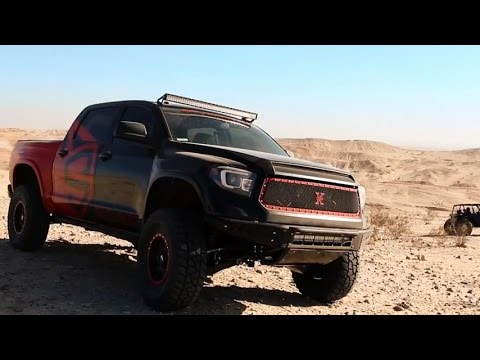 Spyder Projector Headlights On Toyota Tundra Built For SEMA 2014 Mp3
